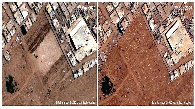 صور أقمار صناعية للقبور ترصد 2100 وفاة بكورونا في عدن
