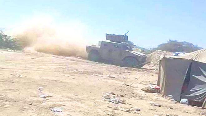القصف المدفعي والاشتباك المباشر بين القوات الجنوبية والشرعية بأبين