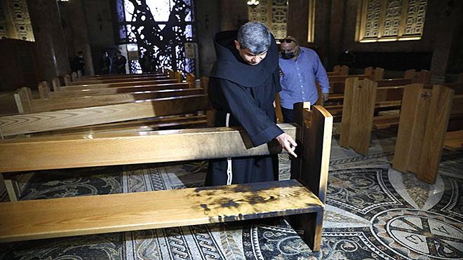 حرق كنيسة الجثمانية في القدس