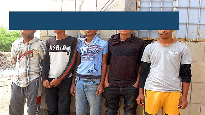 العصابة  المتخصصة بسرقة الدراجات النارية في عدن ولحج