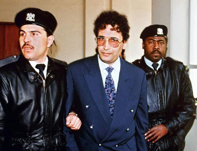 الليبي عبد الباسط المقرحي في طرابلس في 18 فبراير 1992