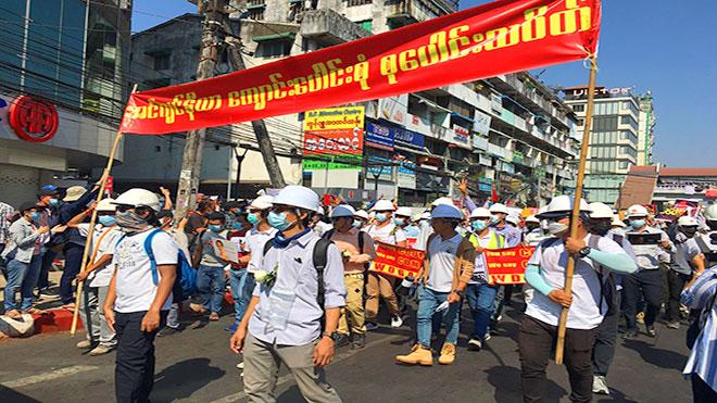 تواصل المظاهرات في ميانمار رغم استخدام القوة من قبل الشرطة