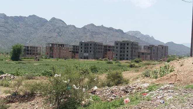 المدينة السكنية التي يقطنها النازحون في سناح